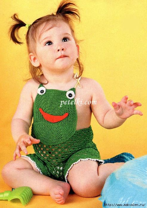 Вязаные детские песочники - подборка