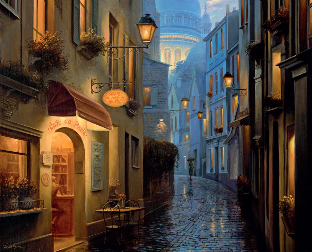 Как спят ночные города? Художник Евгений Лушпин