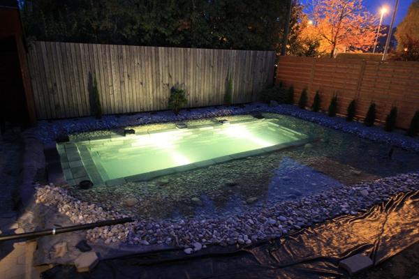 Необычная идея для заднего дворика бассейн, задний двор, пруд