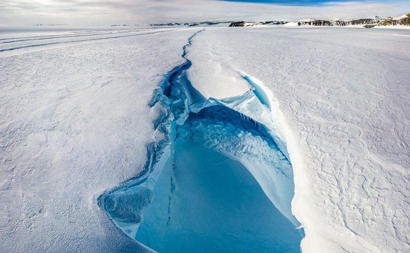 Трещины в леднике антарктида, интересно, пик Винсона, путешествие, скалолазание, фотоотчет