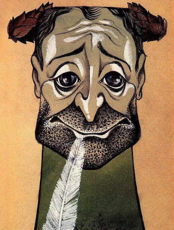 Карикатуры на советских артистов нарисованные Юрием Богатырёвым.