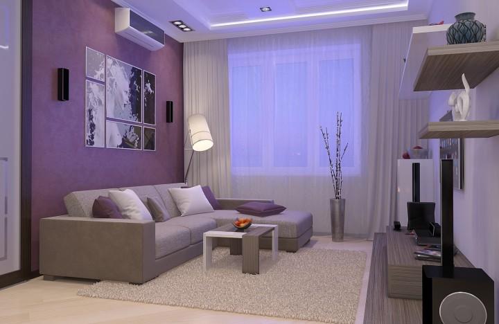 Стильный интерьер гостиной фото