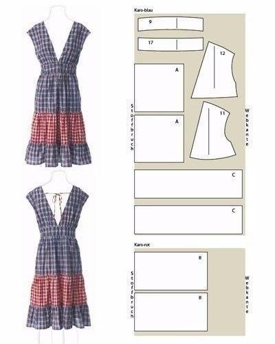 Простые платья.Выкройки.