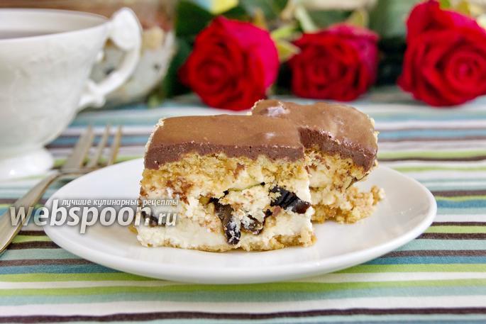 Фото Творожный десерт с шоколадной глазурью