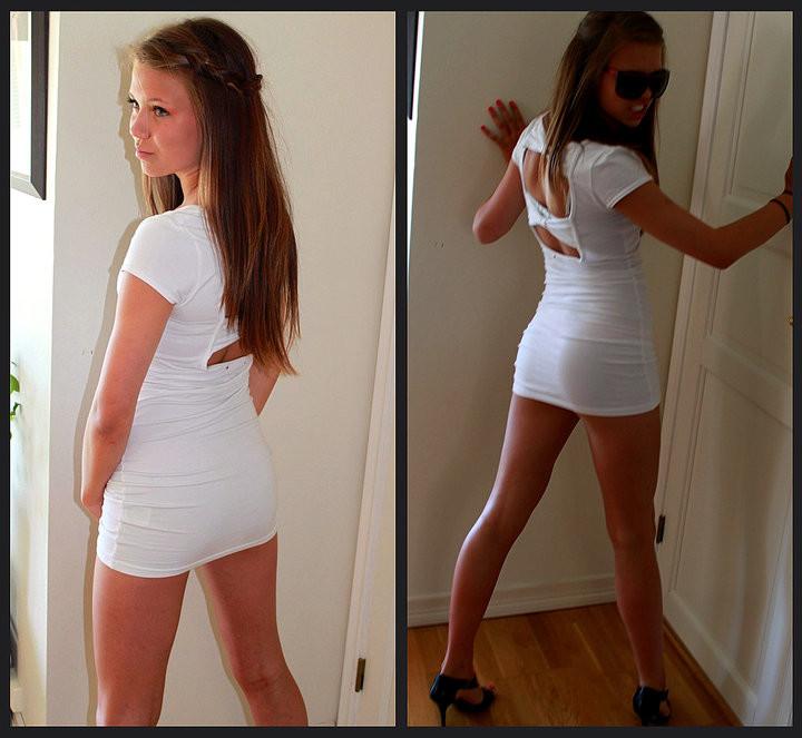 Стройные девушки в коротких платьях (31 фото)