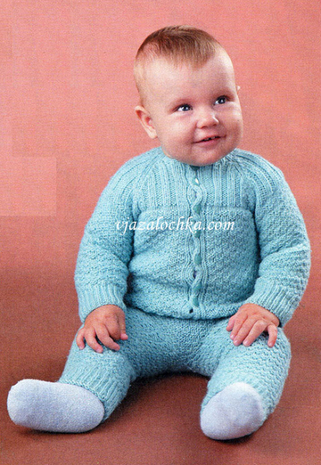 Голубой костюм для малыша