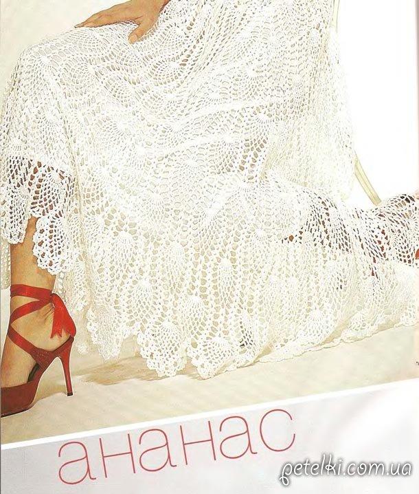 Шикарная юбка узором ананас