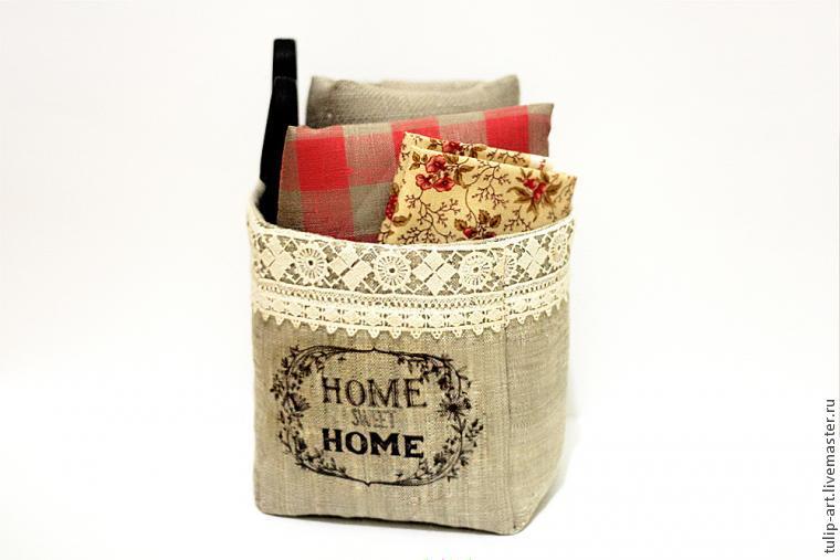 Шьем текстильную корзинку в винтажном стиле