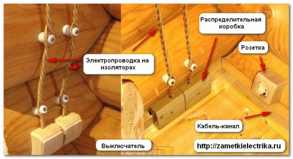 Монтаж наружной электропроводки в деревянном доме своими руками 20