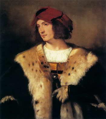 Тициан. Портрет мужчины в красной шапке