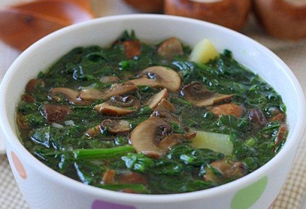 Готовый суп подавай со сметаной