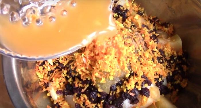 тыквенный пирог с мёдом