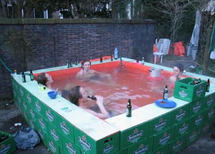 23. Идите купаться и держите пиво в холоде! бассейн, своими руками