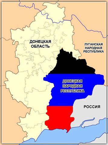 Немного статистики относительно ДНР как государства на политической карте мира