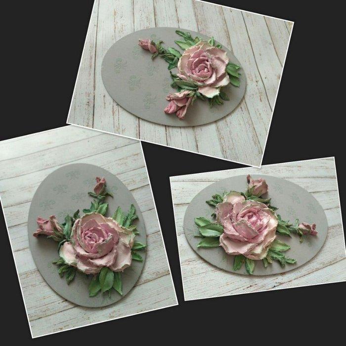 Цветы из декоративной штукатурки – очаровательный декор, который хочется повторить