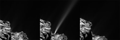Выброс газа из ядра кометы #2