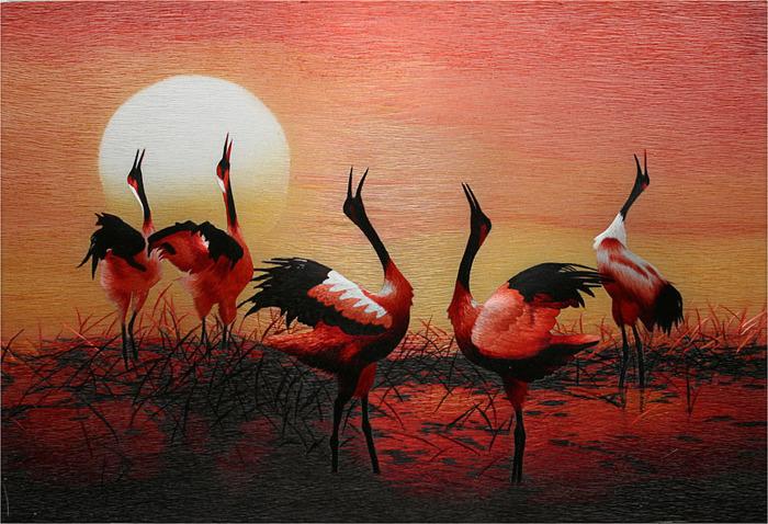 Невероятной красоты картины китайских мастериц-вышивальщиц