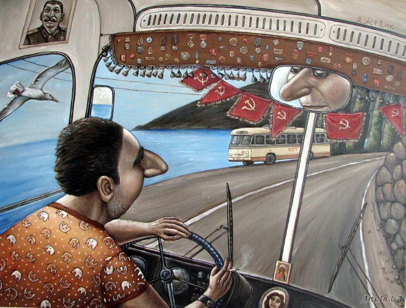 AngelaJerich30 Путешествие в СССР: картины художницы Анжелы Джерих