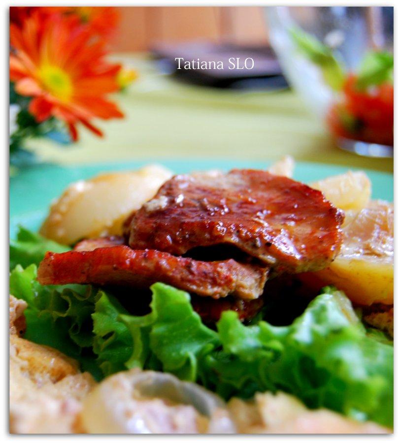 Мясо не по-французски. Фото-рецепт.