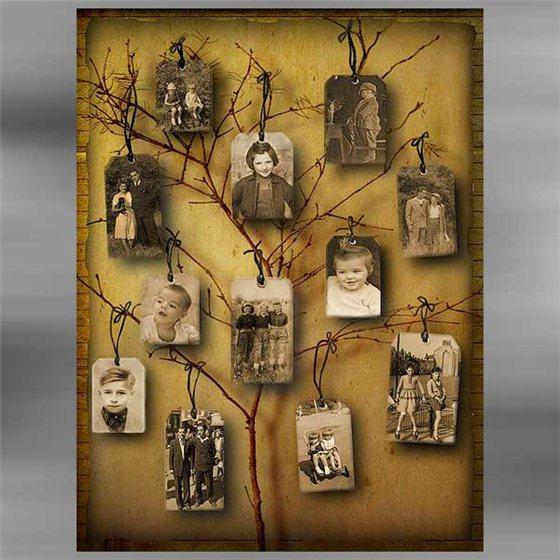 Дерево с рамками для фото своими руками