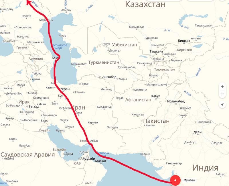 """Ход слоном. Индия решила вложиться в """"коридор"""" Мумбаи - Санкт-Петербург"""
