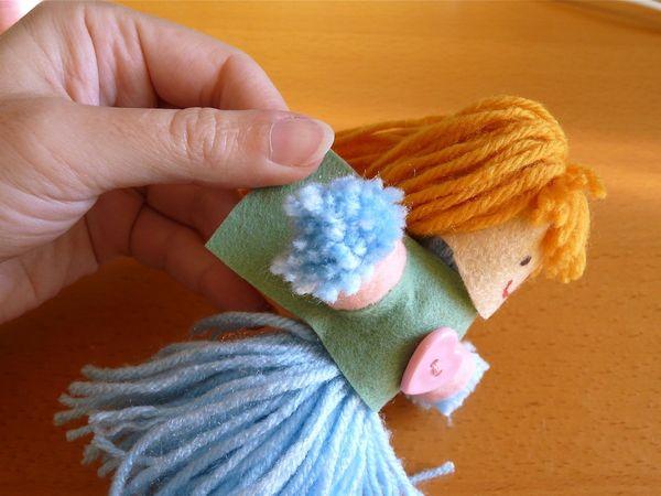 Как сделать куколку из ниток и ткани - Модная точка