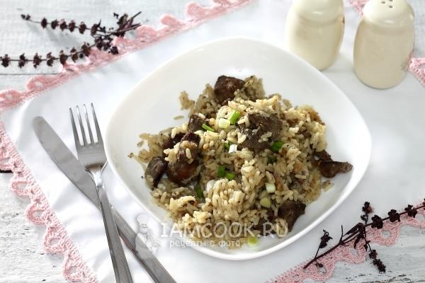 Рис с печенью
