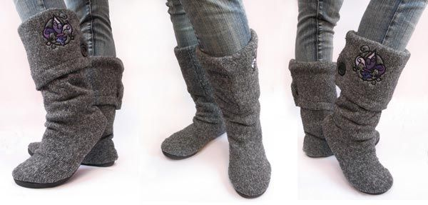Сапожки из старого свитера