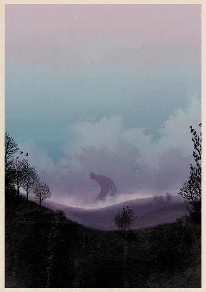 Иллюстрации Matthew Griffin. Серия плакатов под названием «Гиганты»
