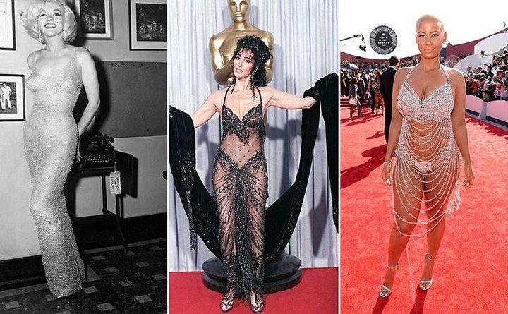 «Голые» звёздные платья: самые скандальные наряды