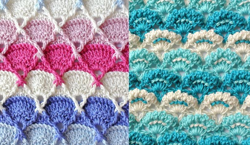 Изумительные многоцветные узоры для вязания крючком
