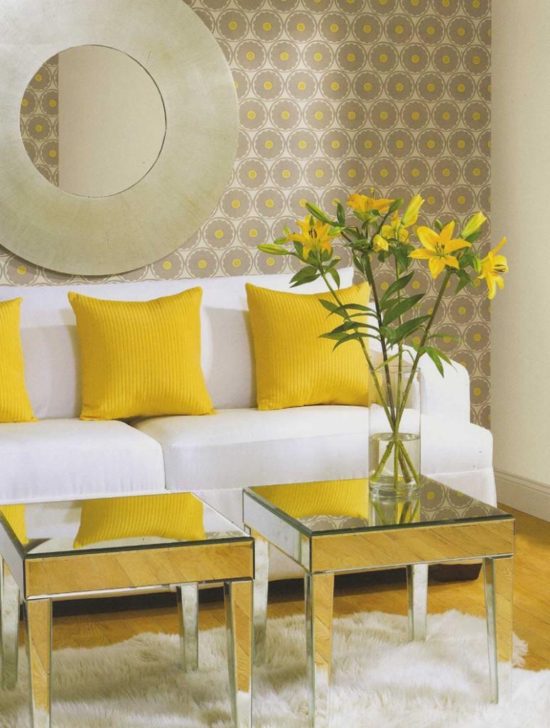 Интерьер в желтой цветовой гамме