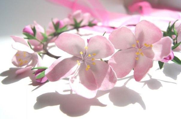 МК! Веночек с цветами сакуры