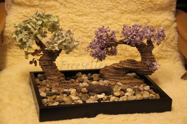 Как сделать дерево-бонсай из картона