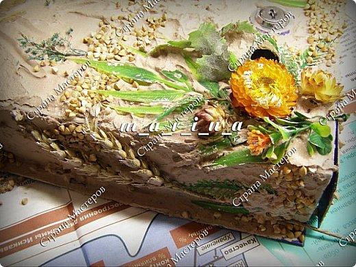 Декор предметов Мастер-класс Ассамбляж Почтовый ящик в технике Терра МК Гипс Краска Материал природный фото 17