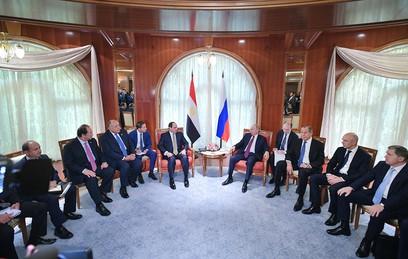 Путин и ас-Сиси обсудили наращивание товарооборота России и Египта