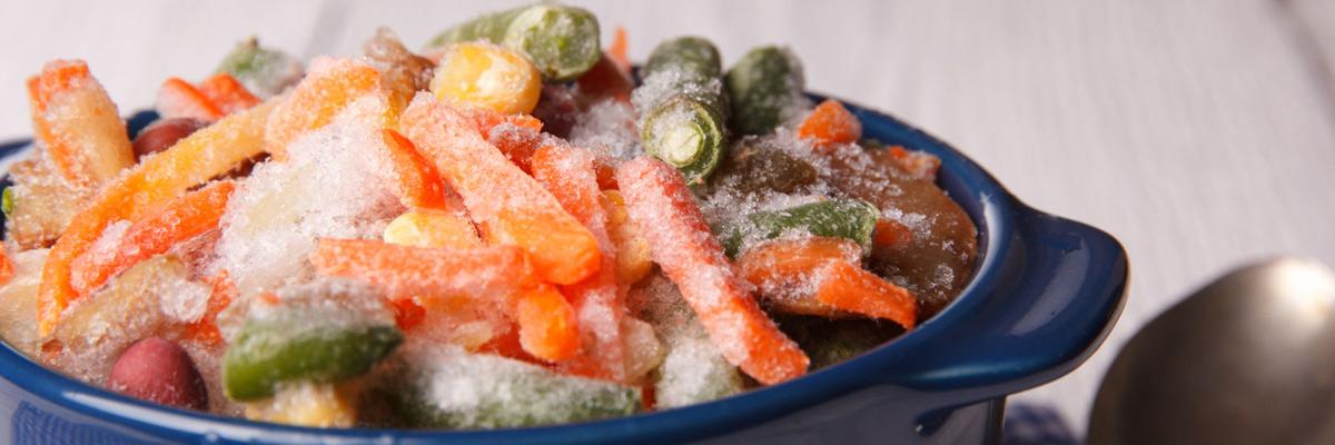 Как сварить замороженные овощи на пару