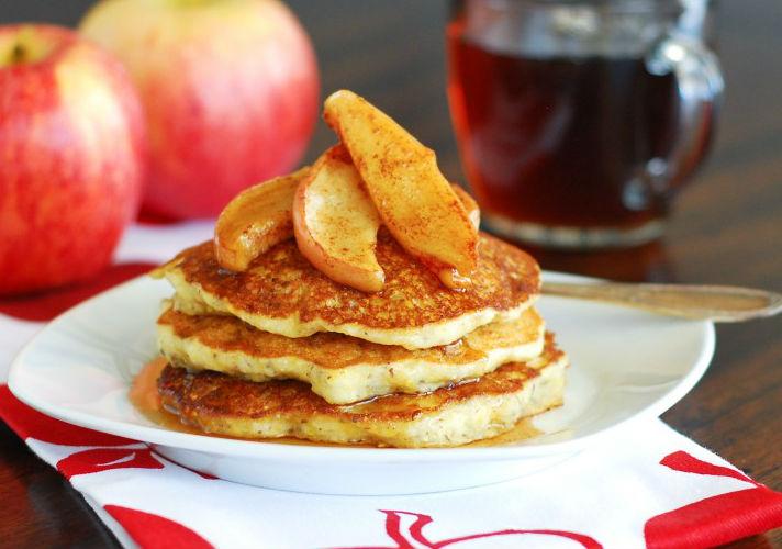 Оладьи овсяные с яблоком на кефире рецепт