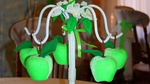 Яблоко из бархата-велюра главная