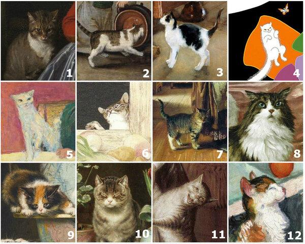 Святочное гадание по картинам с котиками