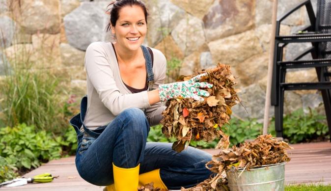 Используем опавшие листья