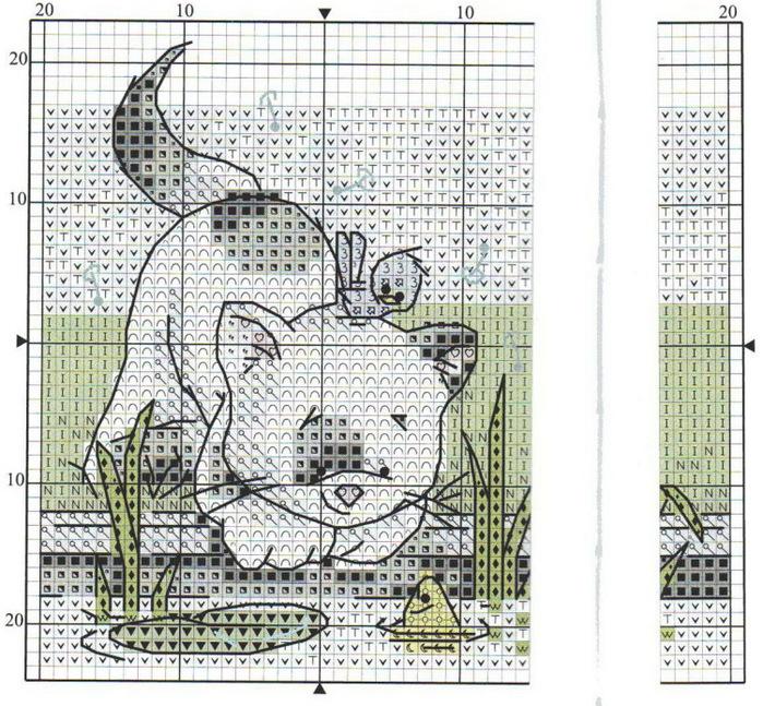 Бесплатные схемы для вышивки котов от lynn b
