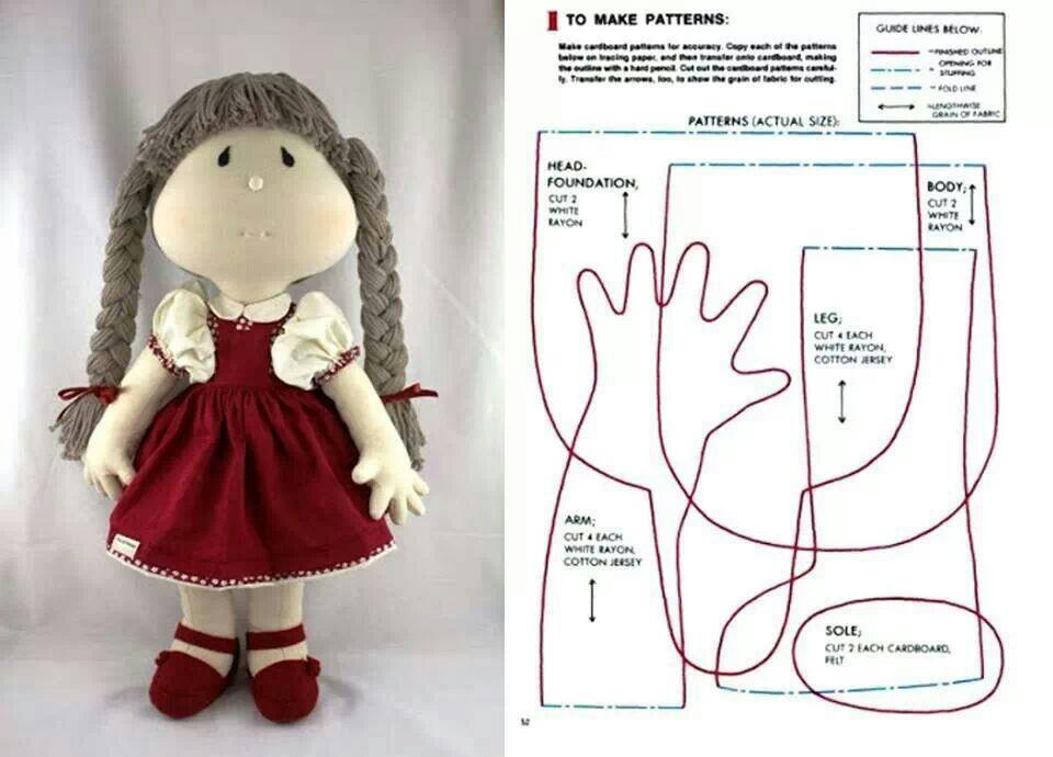 Кукла и мягкая игрушка своими руками