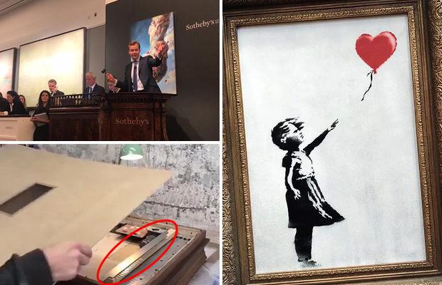 Картина самоуничтожилась на торгах аукционного дома в Лондоне
