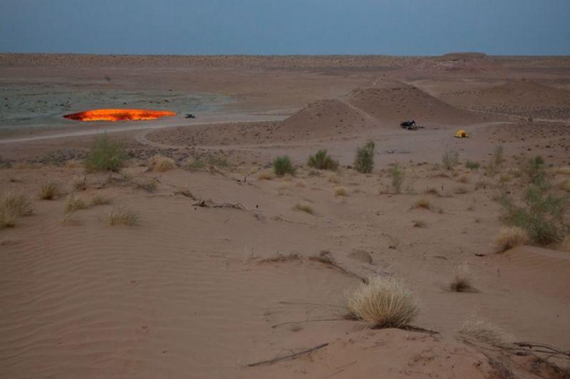 Пустыня Каракум и кратер Дарваза, Туркменистан природа, пустыня