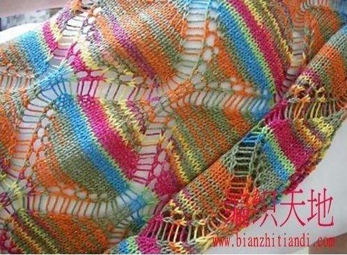 Оригинальный шарф со спущенными петлями