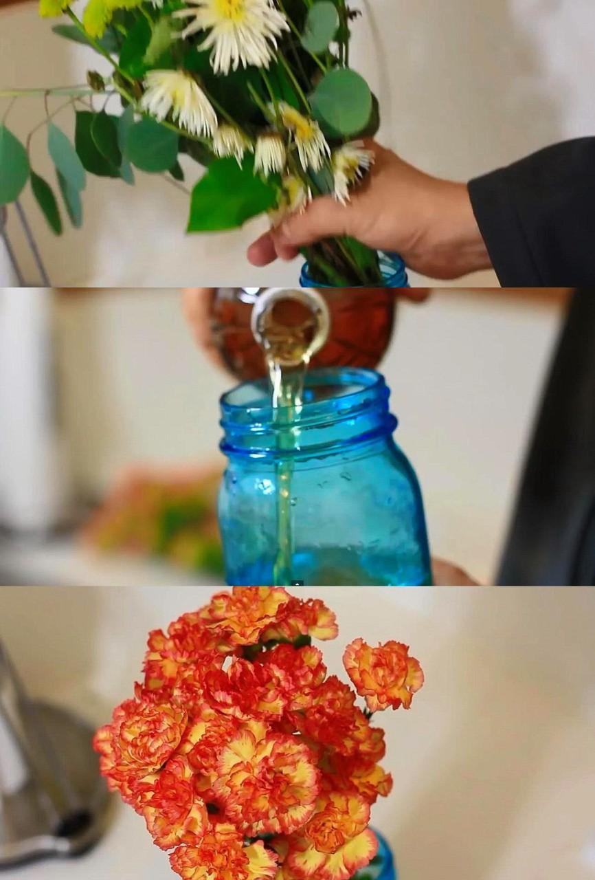 8. Продлеваем свежесть цветов быт, идея, уксус