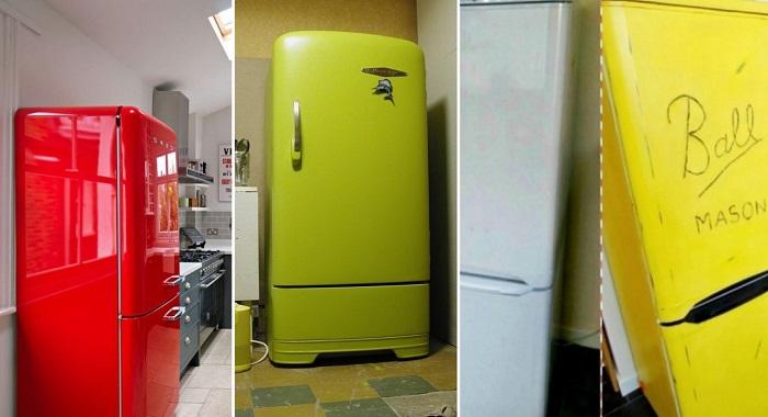 Холодильник в центре внимания: яркие салфетки помогут