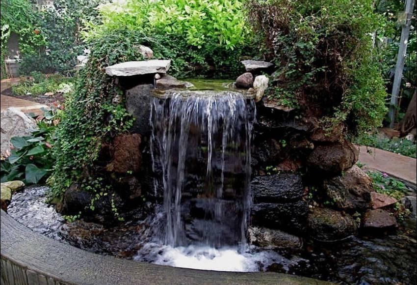 Водопад на дачу фото