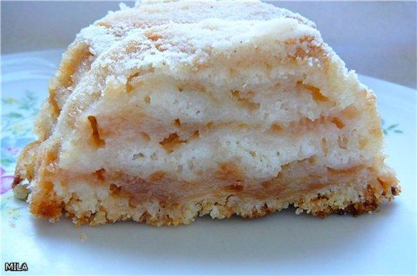 Простой и восхитительный яблочный пирог с насыпным тестом